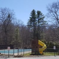 Tink Wigs pool and swings in poconos