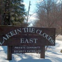 lake in the clouds sign in pike county pa