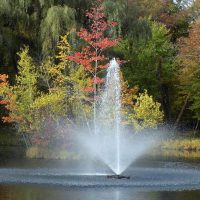fountain in lake wallenpaupack