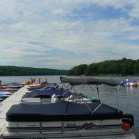 Marina with boats by lake wallenpaupack pa