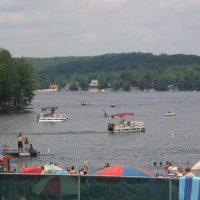 Motor Boat Lake by lake wallenpaupack pa