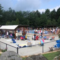Swimming Races by lake wallenpaupack pa