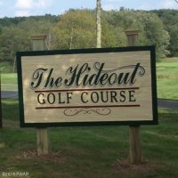 The Hideout Golf Course by lake wallenpaupack pa