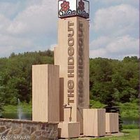The Hideout sign by lake wallenpaupack pa