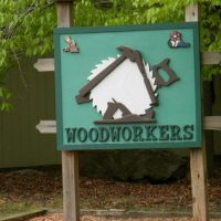 woodworkers sign by lake wallenpaupack pa