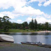 beach area at lake pconos