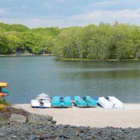 paddle boats by lake wallenpaupack pa